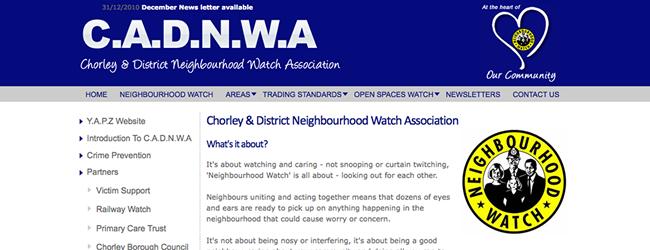 Web Design and Development Chorley Police