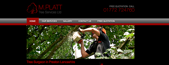 Web Design Preston - MPlatt Tree Services
